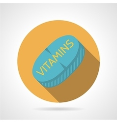 Flat color icon for sports vitamins vector