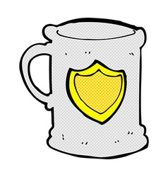 Comic cartoon tankard vector
