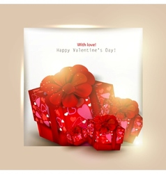 beautiful background with red gifts and place for vector image