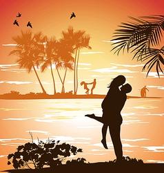 man embraces woman vector image