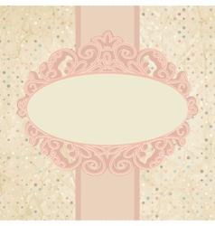 Vintage Pattern Card vector image