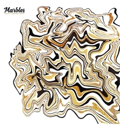 Black white and golden marble style abstract vector