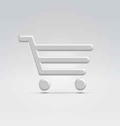 Silver shopping icon vector