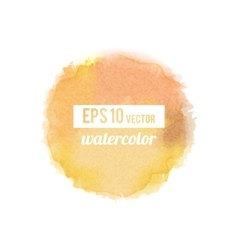 Yellow watercolor stain vector