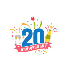 Anniversary twenty years number vector