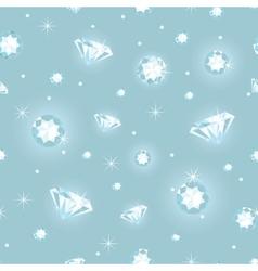 Beautiful diamonds seamless pattern background vector image