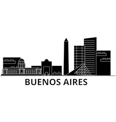 buenos airos architecture city skyline vector image