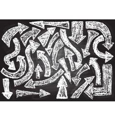 Chalkboard design elements arrows vector