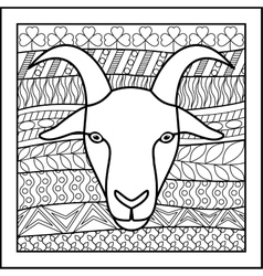 Chinese zodiac sign Goat vector image