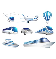 Collection of icons transport vector image