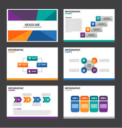 Colorful presentation templates infographic set vector