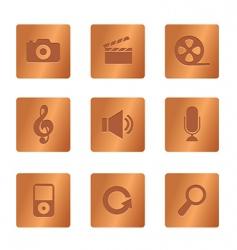 copper square multimedia vector image