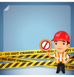 Foreman with danger tapes vector