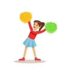 Girl Cheerleader Creative Child Practicing Arts vector image vector image