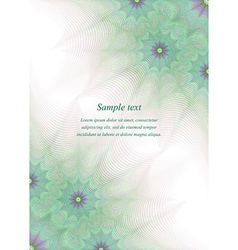 Green page corner design template vector image vector image