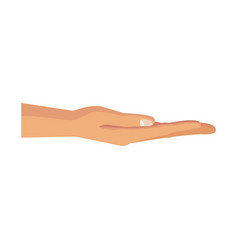 Human hand hold gesture pose image vector