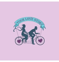 Love story Logo Symbol vector image