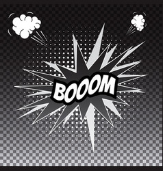 Pop art comic speech bubble boom vector