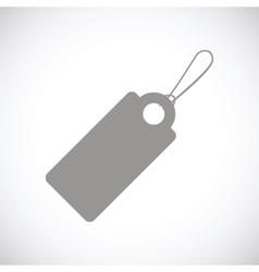 Price tag black icon vector