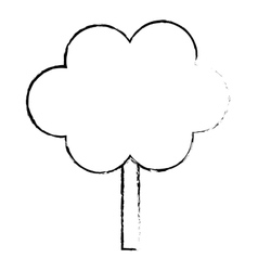 Profile tree in city scene icon image vector
