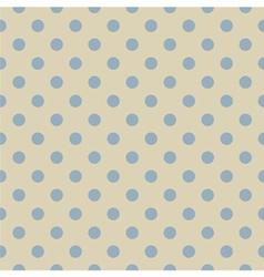 Retro seamless blue polka dots pattern vector image vector image