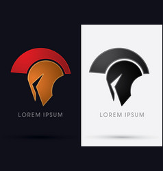roman or greek helmet spartan vector image