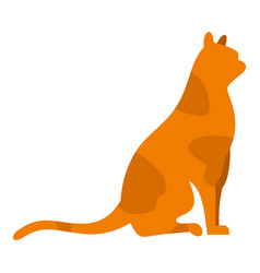 sitting cat icon isolated vector image
