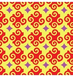 Spiral and star abstract seamless pattern vector