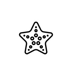 starfish icon thin line black on white background vector image vector image