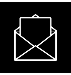 The mail icon Open Envelope symbol vector image