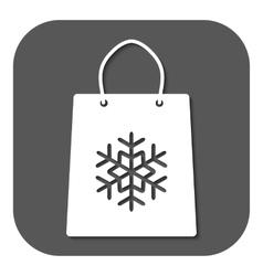 The shopping bag icon vector image