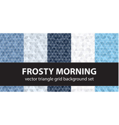triangle pattern set frosty morning geometric vector image vector image