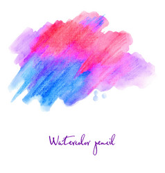 watercolour pencil in blue and pink vector image