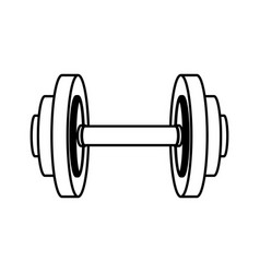 Weight gym tool icon vector