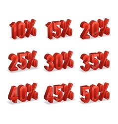 Discount numbers isometric 3d set vector