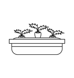 Flowerpot for plants icon outline style vector