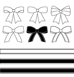 Gift bows vector