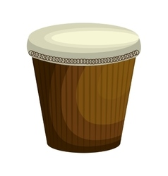 Brazilian bongo instrument icon vector