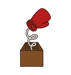 Boxing gloves equipmenti surprice box icon vector