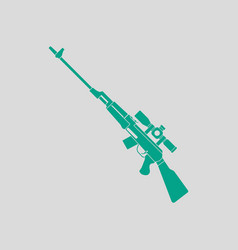Sniper rifle icon vector