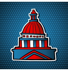 Usa elections capitol building sketch icon vector