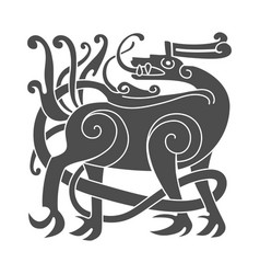 Ancient celtic mythological symbol of deer vector