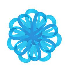 Blue celebration bow vector