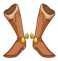 A pair of boots with a gold design vector