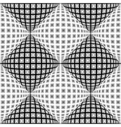 Design seamless monochrome warped diamond pattern vector