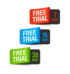 Free trial labels vector