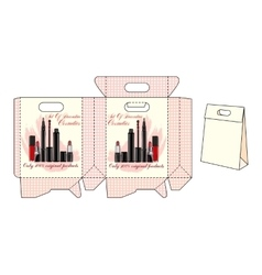 Template bags for cosmetics vector