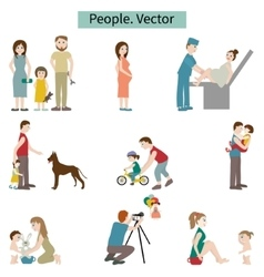 People set of elements vector