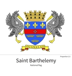 National flag of saint barthelemy with correct vector