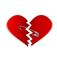 22 pinned heart vector
